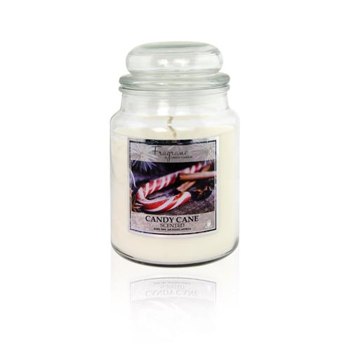 Fragrance Candy Cane Scented Jar Candle 18oz