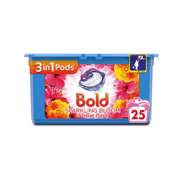 Bold Washing 3-in-1 Capsules Bloom and Yellow Poppy 25 washes - FabFinds
