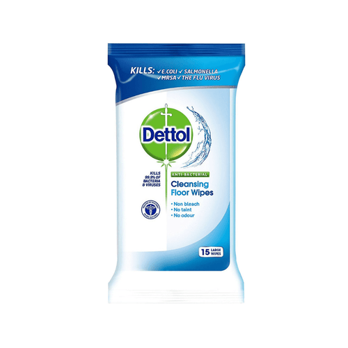 Dettol Anti Bacterial Cleaning Floor Wipes 15