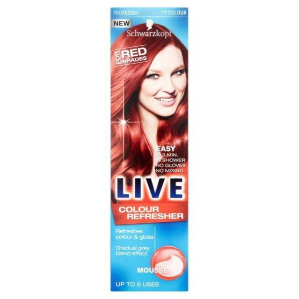 Schwarzkopf Live Colour Refresher Red Shades Mousse 75ml - FabFinds
