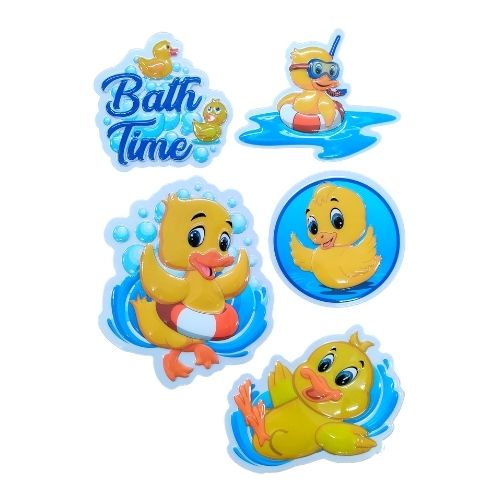 3D Novelty Waterproof Bathroom Duck Stickers