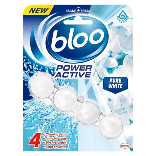 Bloo Power Active White Limescale Toilet Rim Block 50g