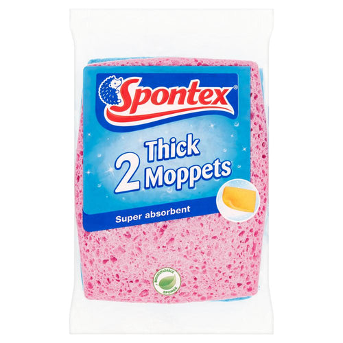 Spontex Thick Moppets Twin Pack
