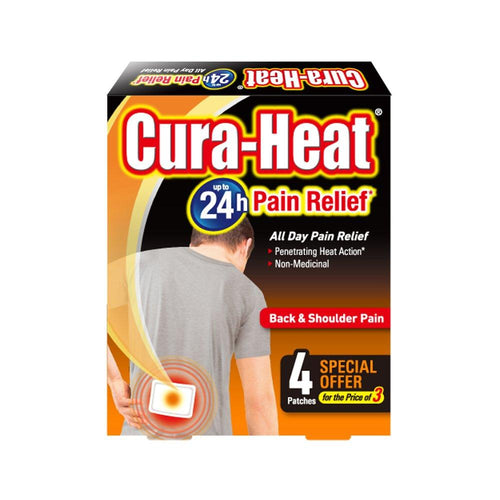 Cura-Heat Back & Shoulder Pain Heat Pads - Pack of 4