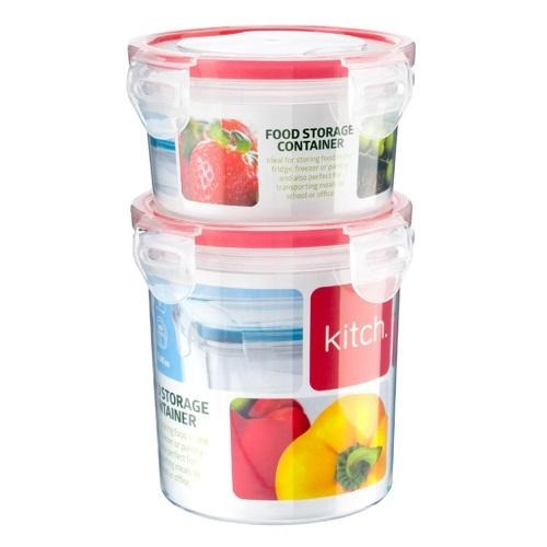 Kitch. Click & Close Food Storage Containers Set Of 2 - FabFinds