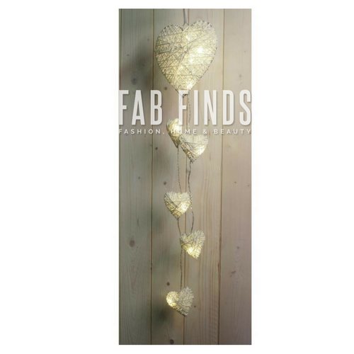 Wicker Hearts LED String Lights