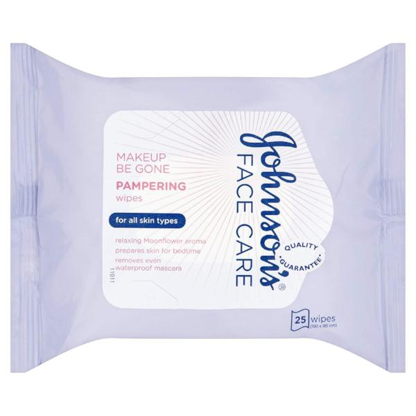 Johnson's Face Care Makeup Be Gone Pampering Wipes Moonflower - FabFinds