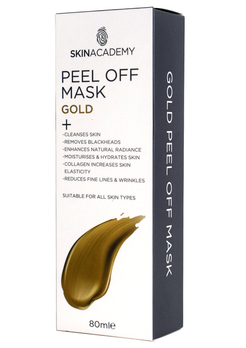 Skin Academy Peel Off Face Mask Gold 80ml - FabFinds
