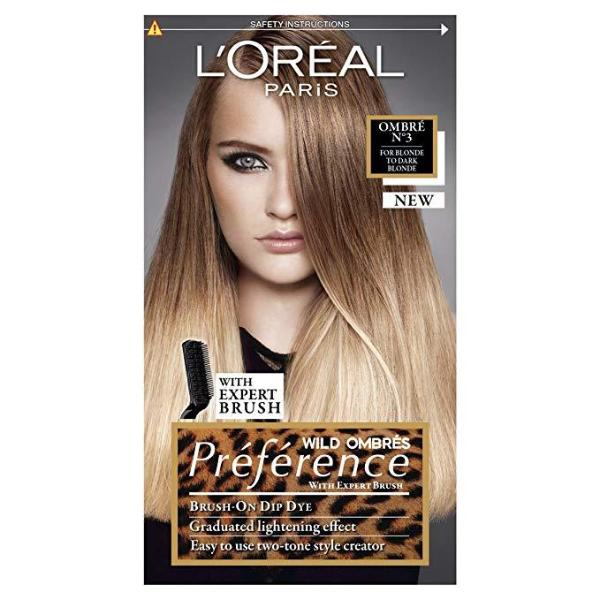 L'Oreal Paris Preference Wild Ombres No 3 Dye for Blonde/Dark Blonde - FabFinds