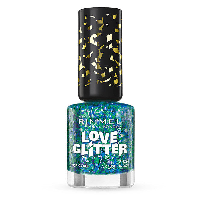 Rimmel Love Glitter Nail Polish 8ml - FabFinds