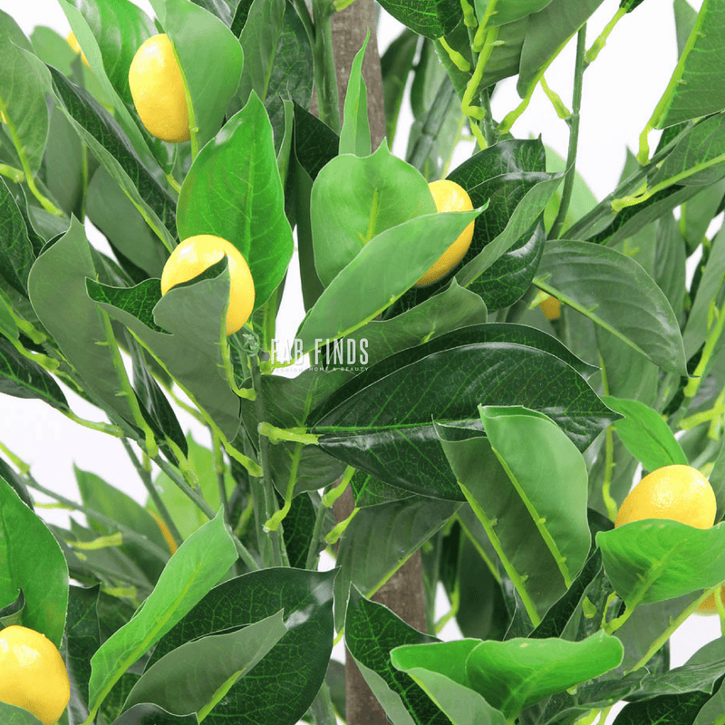 Artificial Lemon Fruit Tree 120cm (4ft) - FabFinds