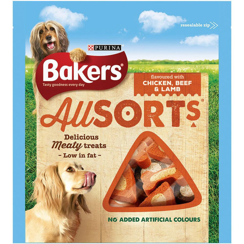 Bakers Allsorts Dog Treats 98g - FabFinds