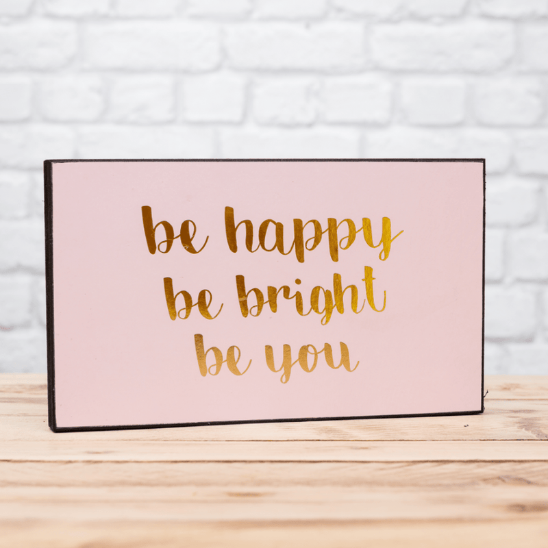 Be Happy Plaque - FabFinds