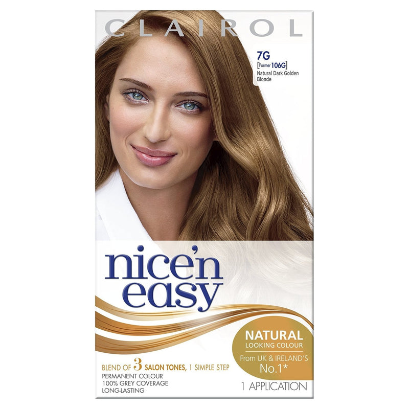 Clairol Nice n Easy Hair Colour in Golden Blonde 7G - FabFinds