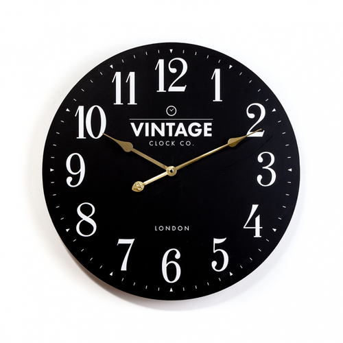 Croxton Statement Black Vintage Wall Clock 60cm