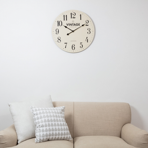 Croxton Cream Vintage Wall Clock