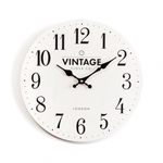 Croxton Cream Vintage Wall Clock - FabFinds