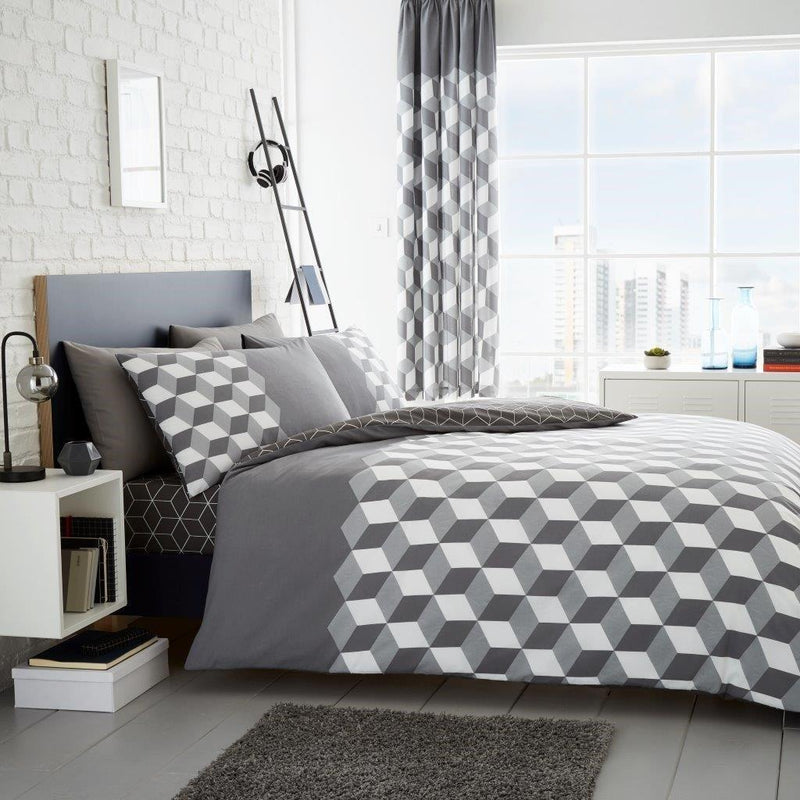 Cubix Duvet Set - FabFinds