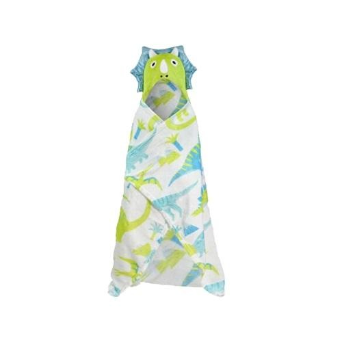 Kid's Dinosaur Hooded Blanket Throw - FabFinds