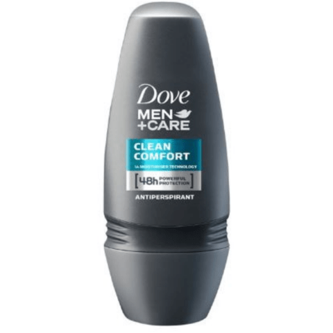 Dove Men+Care Clean Comfort Anti-perspirant Deodorant Roll-On 50ml - FabFinds