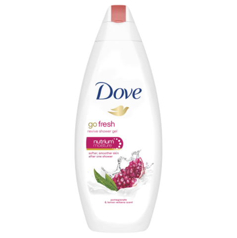 Dove Go Fresh Pomegranate & Lemon Verbena Body Wash 500ml - FabFinds