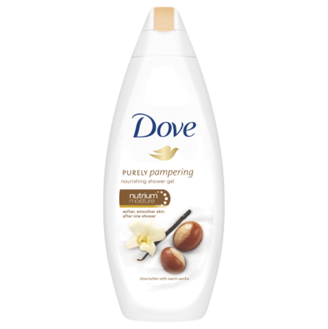 Dove Deeply Purely Pamper Nourishing Shea Butter Shower Gel 500ml - FabFinds
