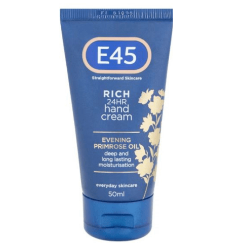 E45 Rich 24 Hour Evening Primrose Oil Hand Cream 50ml - FabFinds