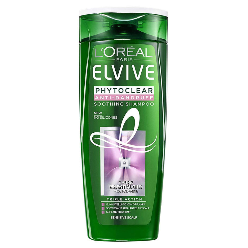 L'Oréal Paris Elvive Phytoclear Anti Dandruff Soothing Shampoo Sensitive Hair 500ml - FabFinds