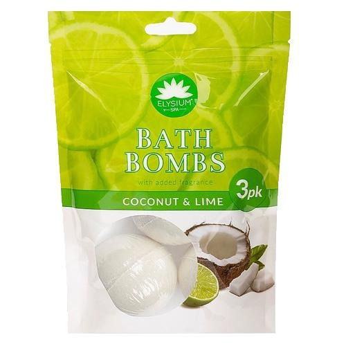 Elysium Spa Lime and Coconut Bath Bombs 3 Pack