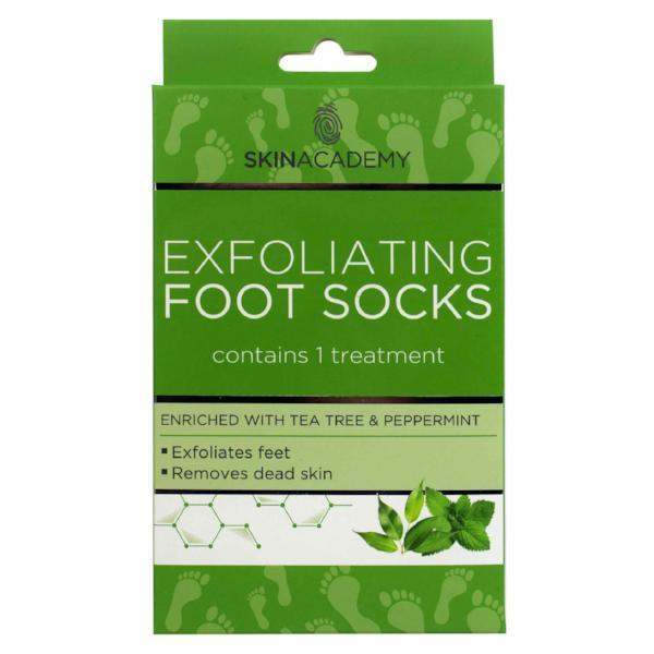 Skin Academy Exfoliating Foot Socks Tea Tree & Peppermint - FabFinds