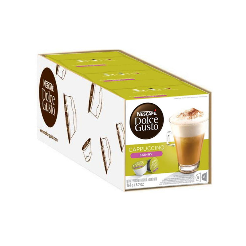 Nescafe Dolce Gusto Coffee Skinny Cappuccino 16 Refill pods - Case of 3 - FabFinds