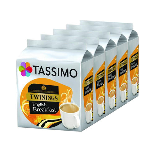 Tassimo Twinings English Breakfast Tea 16 Refills (Case of 5)