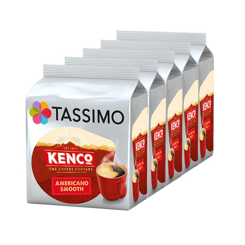 Tassimo Kenco Americano Smooth Coffee Pods Refills 16 (Case of 5)