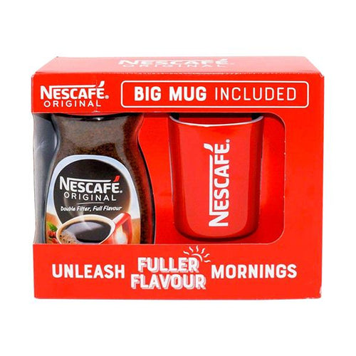 Nescafe Coffee Original Red Square Big Mug Cup Gift Set