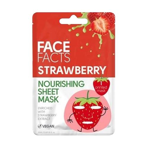 Face Facts Brightening Strawberry Printed Sheet Mask 20ml - FabFinds