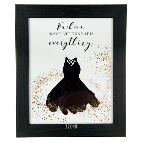 Fashion Beauty Quote Framed Wall Art