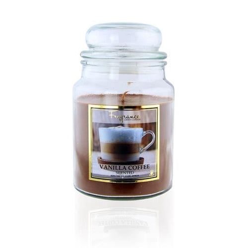 Fragrance Vanilla Coffee Scented Jar Candle 18oz