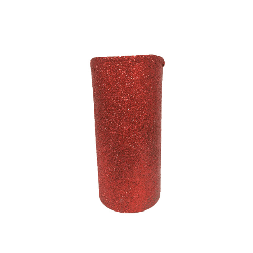 LED Glitter Christmas Pillar Candle Red - FabFinds