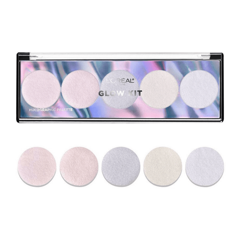 L'Oreal Highlighter Glow Kit Holographic Palette - FabFinds