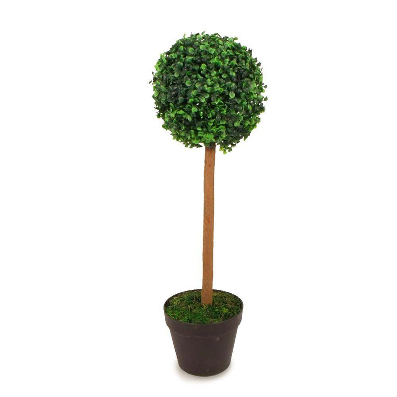 Green Artificial Topiary Ball Tree 65cm - FabFinds