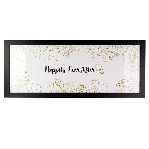 Happily Ever After Quote Framed Wall Art