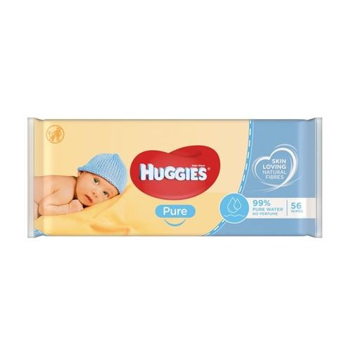 Huggies Pure Baby Wipes Pack 56 - FabFinds