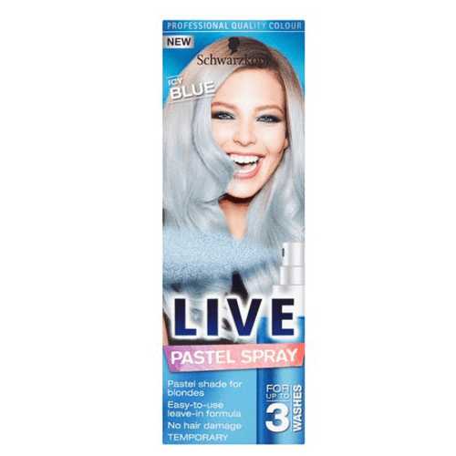 Schwarzkopf Live Icy Blue Pastel Spray Temporary Hair Colouring 125ml