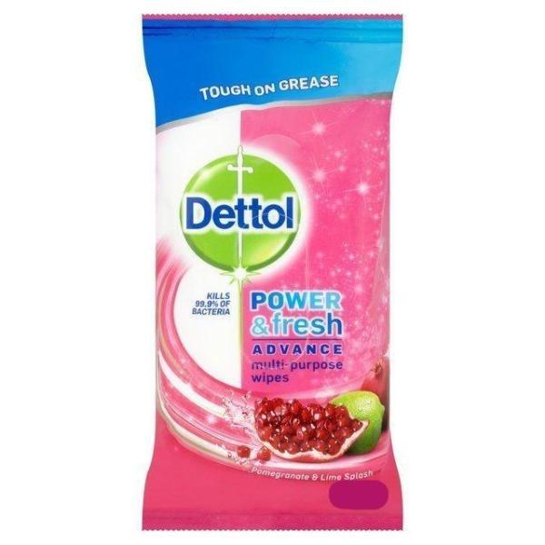 Dettol Power and Fresh Advance Pomegranate & Lime Surface Wipes (32 pack) - FabFinds