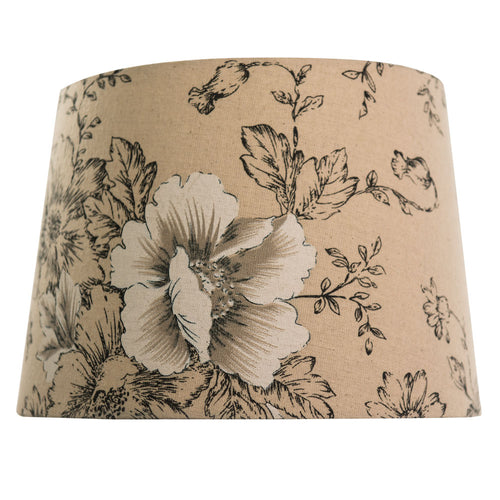 Linen Floral Lamp Shade