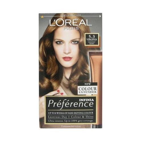 L'Oreal Paris Preference Virginia Chestnut Brown 5.3 Hair Colour Dye - FabFinds