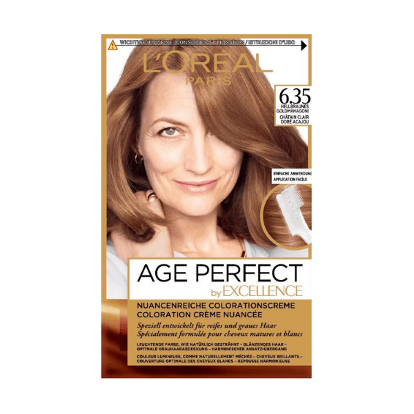 L'Oreal Excellence Age Perfect Light Warm Auburn 6.35 Hair Dye - FabFinds