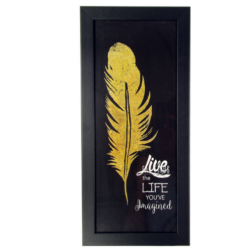 Live Life Quote Framed Wall Art