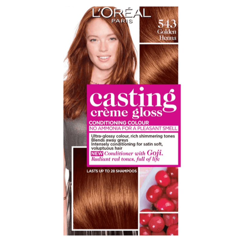 L'Oreal Paris Casting Creme Gloss Golden Henna 543 Hair Colour 254g - FabFinds