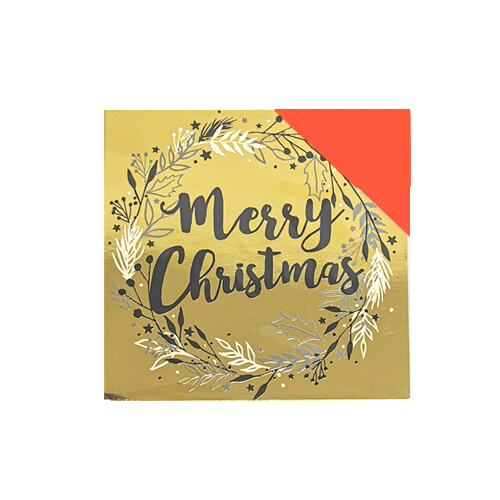 Festive Gold Foil Christmas Cards Pack of 16 - FabFinds